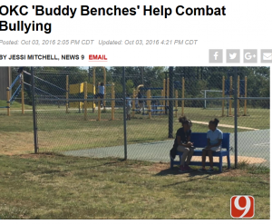 News 9 | OKC 'Buddy Benches'